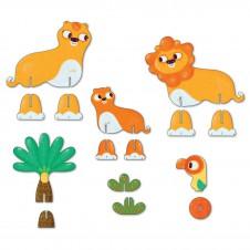 3D пазл Львы
